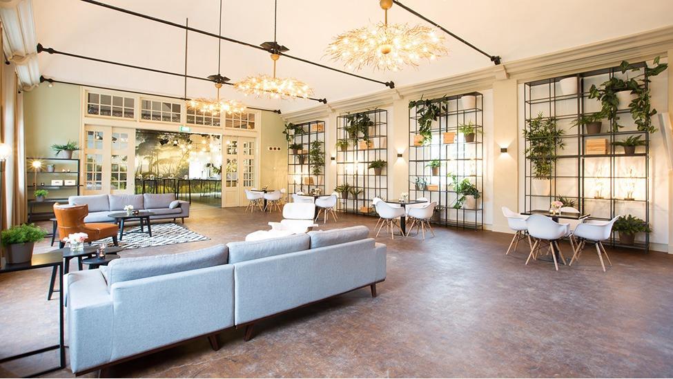 De lounge van feestlocatie Buitenplaats Amerongen in Amerongen