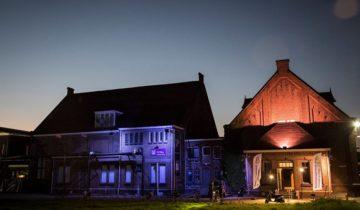 Verschillende panden uitgelicht feestlocatie de Lichtfabriek in Haarlem.