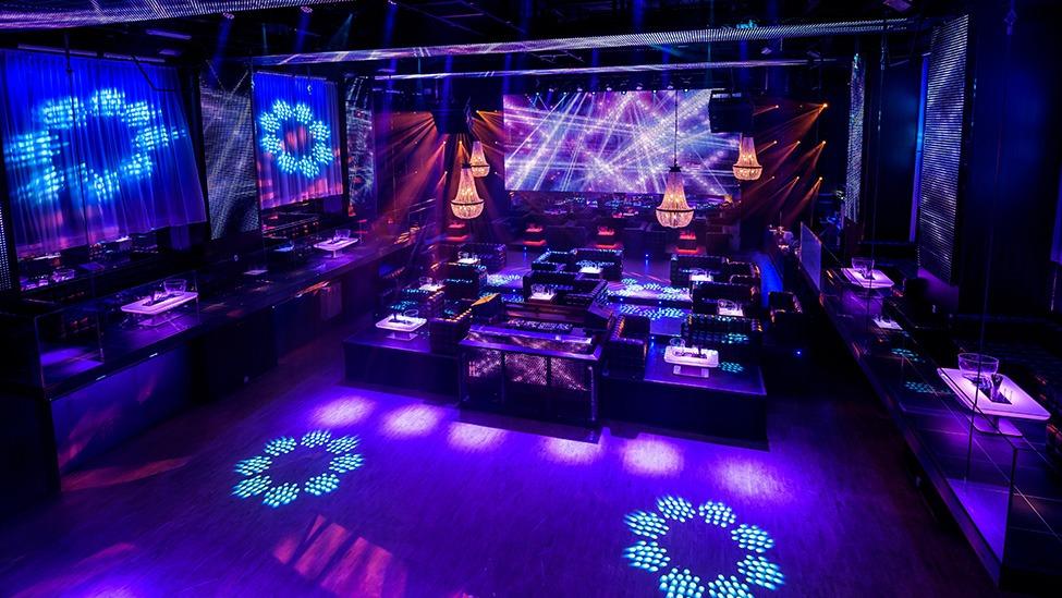 Een overview op de zaal van feestlocatie Escape Club Amsterdam