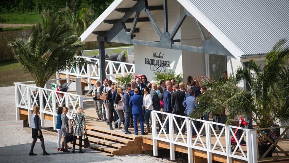 Bedrijfsfeest bij beachclub Degreez feestlocatie in Panheel