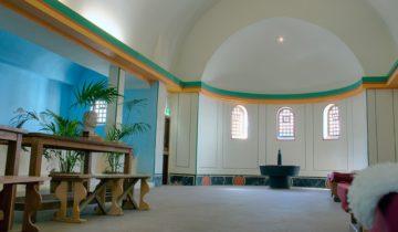 De boogzaal is een mooie ruimte voor een personeelsfeest bij feestlocatie Archeon in Alphen aan den Rijn.