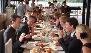 Dineren bij feestlocatie Experience Island Loon op Zand.
