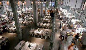 Een overzicht van de zaal van de kookfabriek feestlocatie Amsterdam