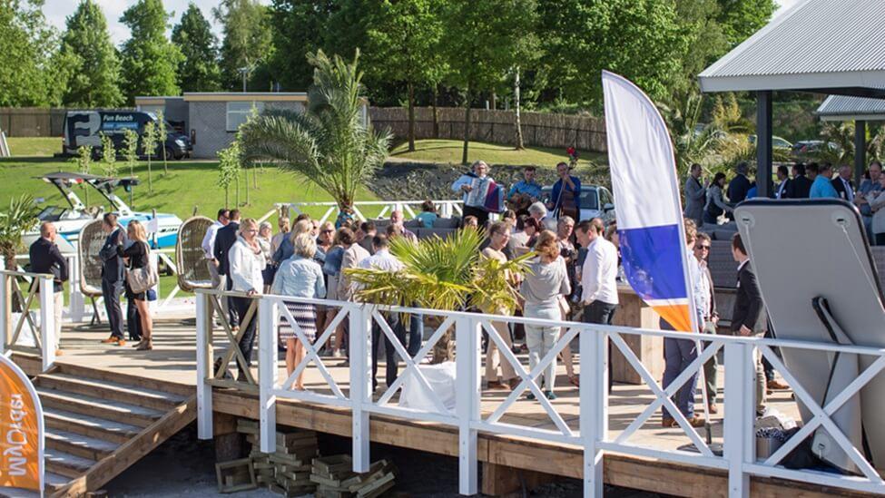 Personeelsbijeenkomst bij beachclub degreez feestlocatie Panheel.