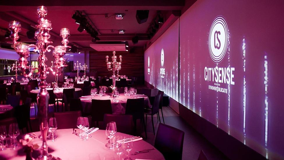 Bij feestlocatie CitySense in Utrecht kun je ook goed terecht voor een sit-down diner.