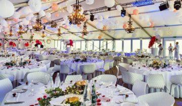 Sitdown diner bij beachclub O feestlocatie in Noordwijk aan Zee.