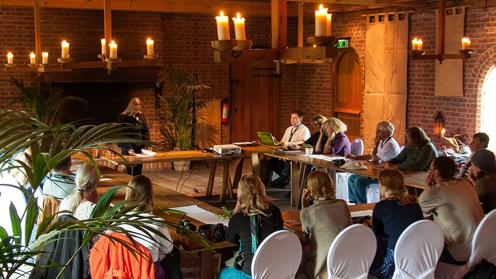 Ook is er bij feestlocatie Archeon in Alphen aan den Rijn ruimte om workshops te geven.