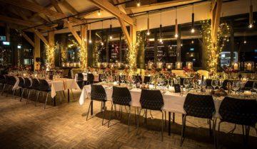 Dinersetting bij Zuidpool feestlocatie Amsterdam.