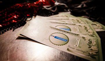 Dollars met eigen logo op het Casinofeest personeelsfeest