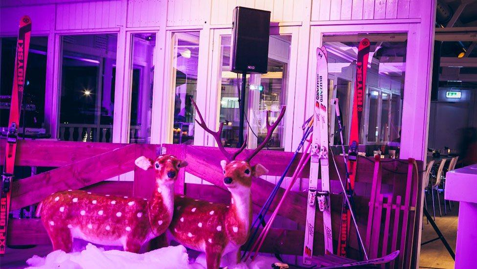 Winterse decoratie tijdens het Apres-ski feest themafeest