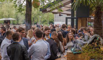 bedrijfsfeest bij feestlocatie strandzuid in Amsterdam.