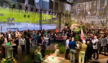 Personeelsbijeenkomst bij de westergasfabriek feestlocatie Amsterdam.
