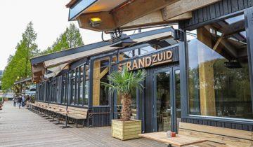 Buitenaanzicht op feestlocatie Strandzuid in Amsterdam.