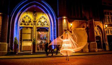 Entertainment op straat bij de Orangerie Den Bosch.