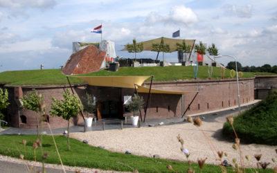 De entree van Fort Lent feestlocatie Lent Nijmegen.