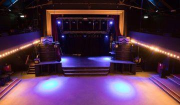 De theaterzaal van feestlocatie Panama in Amsterdam.