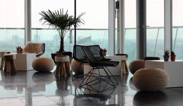 De lounge van het Inntel Hotel Rotterdam
