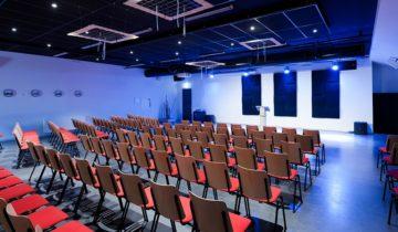De kleine zaal van feestlocatie de Basiliek in Veenendaal