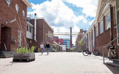 Het terrein buiten van De Prodentfabriek feestlocatie Amersfoort