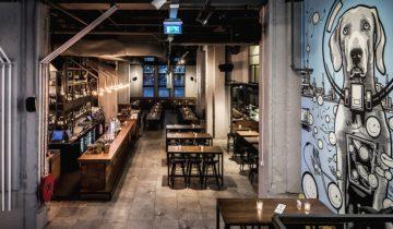 Overzicht over het restaurant van De Bajes feestlocatie in Amsterdam.