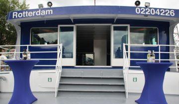 Achterdek Boot 3 varende feestlocatie in Amsterdam.