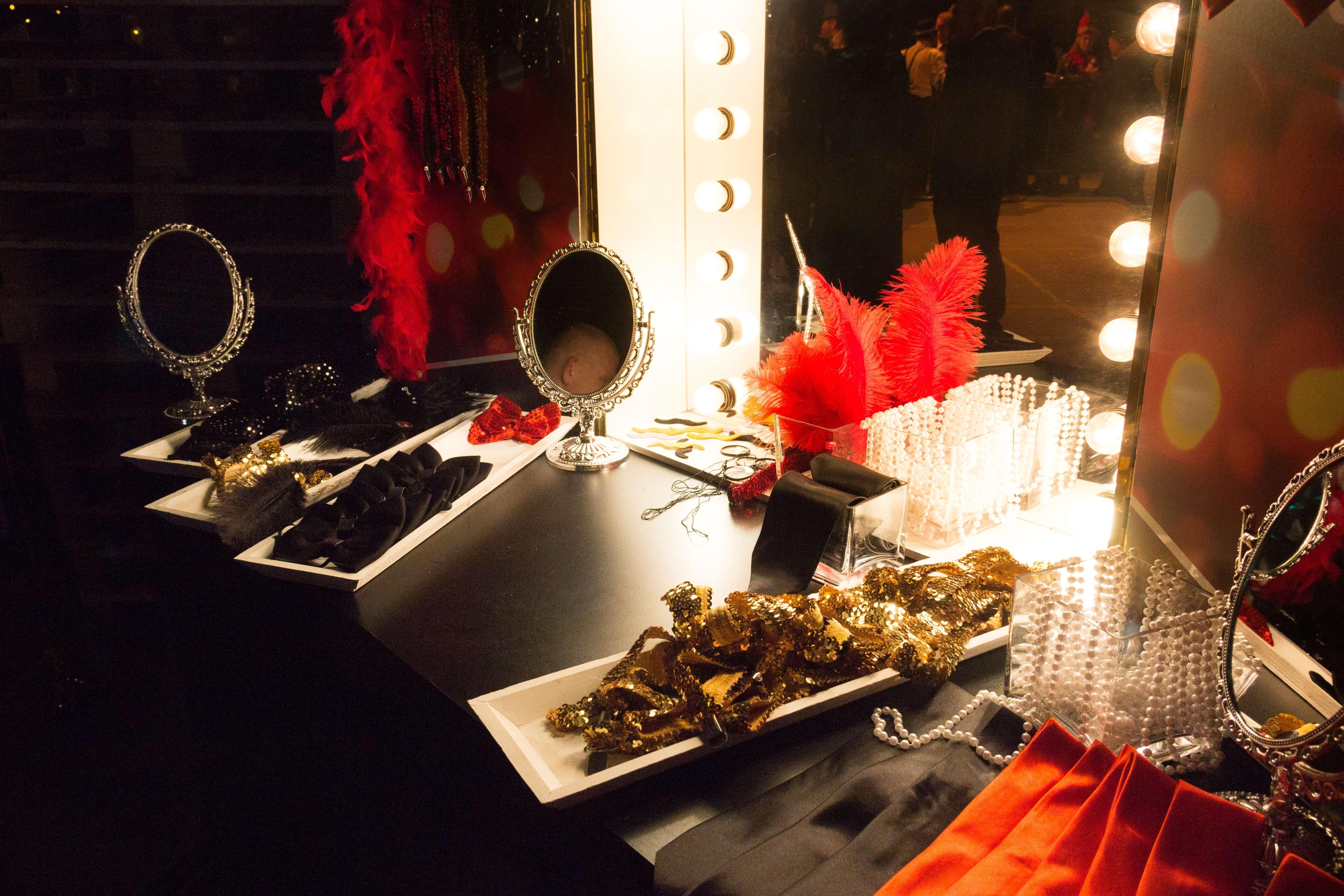 Close-up van Gadgetbar tijdens great gatsby feest DHL