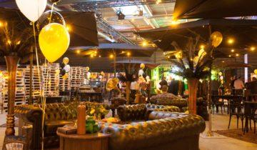 Decoratie tijdens great gatsby personeelsfeest DHL.