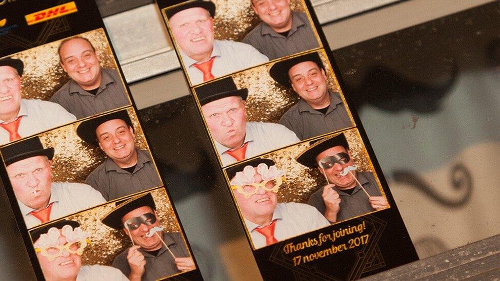 Foto uit Photobooth bij het Great Gatsby feest van DHL