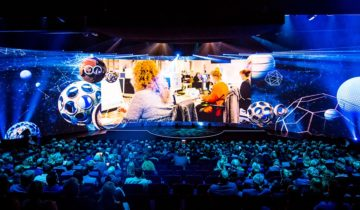 180 graden scherm Theaterzaal van Theater Amsterdam.