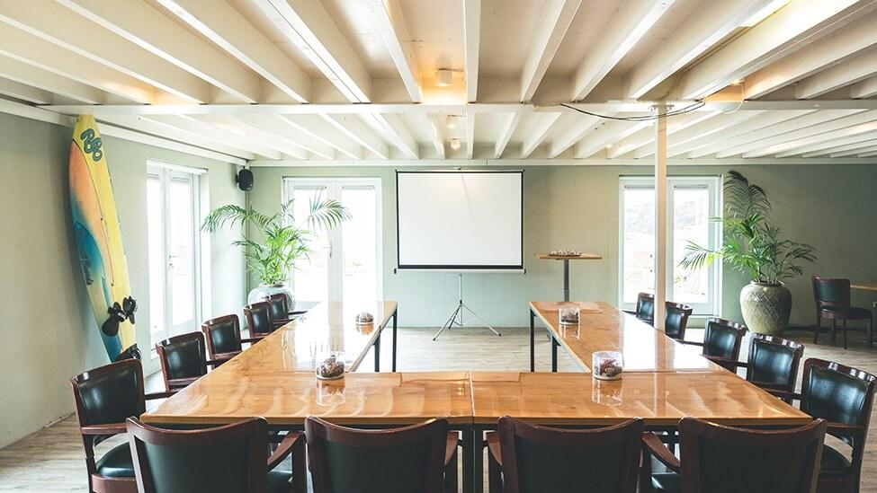 Vergadersetting bij Brunotti Beachclub in Oostvoorne.