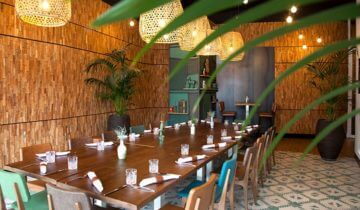 Dinersopstelling van restaurant el salon van feestlocatie Markant Uden.