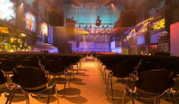 Plenaire opstelling voor evenement bij feestlocatie RDM Events.