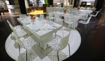 Diner opstelling event in Canon van Nederland bij Openluchtmuseum in Arnhem.