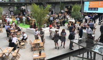 Bedrijfsevenement bij feestlocatie de Fokker terminal in Den Haag.