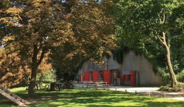 Aanzicht op de bunker op Fort de Batterijen feestlocatie Nieuwegein.
