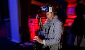 VR-Experience tijdens het MTH personeelsfeest.