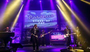 De corona's op het podium tijdens het MTH personeelsfeest.