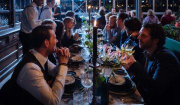 Dinersetting bij HoogtIJ feestlocatie in Amsterdam.