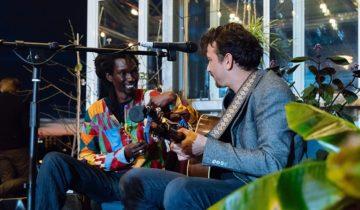 entertainment op dakterras van feestlocatie HoogtIJ in Amsterdam.