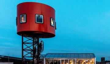 Uitkijktoren feestlocatie HoogtIJ in Amsterdam.